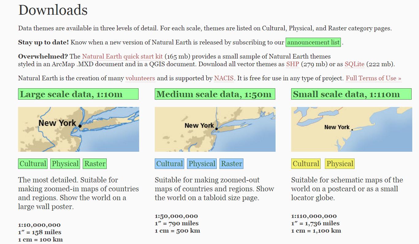 NATURAL EARTH 矢量及栅格数据下载攻略- ArcGIS知乎-新一代ArcGIS问答社区