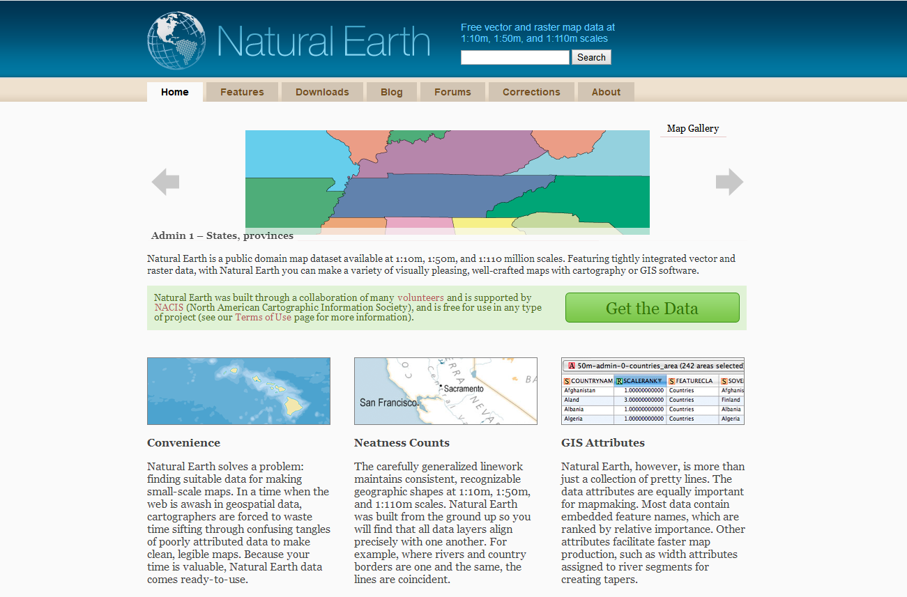 NATURAL EARTH 矢量及栅格数据下载攻略- ArcGIS知乎-新一代